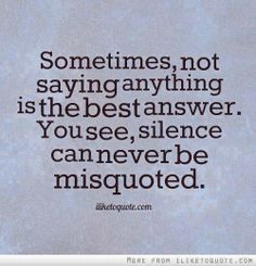 silence misquote